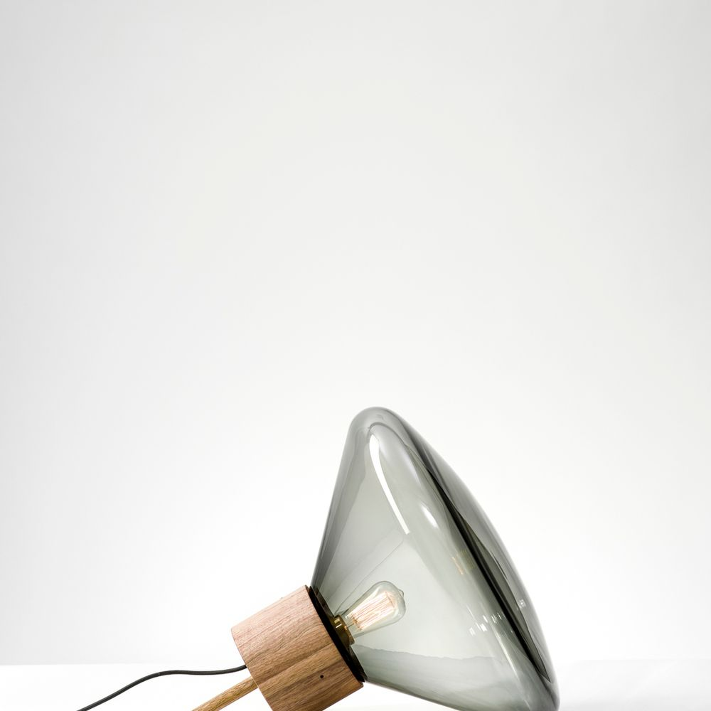 Dan Yeffet & Lucie Koldova muffins - floor lamps - brokis - wood - glass | mom