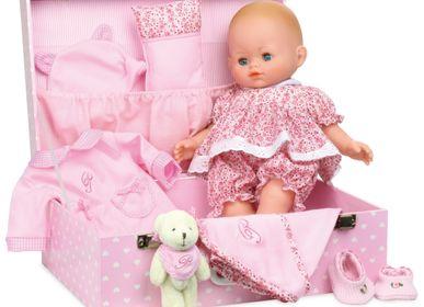 """Toys - Baby doll PETIT CÂLIN 36 cm """"CAPUCINE"""" in her suitcase - VILAC-PETITCOLLIN-JEUJURA"""