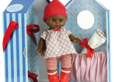 "Toys - Baby doll PETIT CÂLIN 28 cm ""MALO"" in his trunk - VILAC-PETITCOLLIN-JEUJURA"