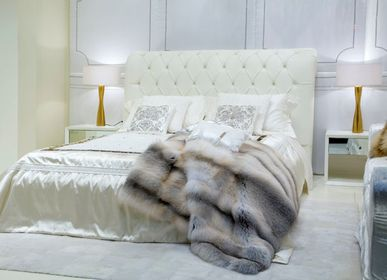 Throw blankets - BEDSPREAD GENUINE FUR COLLECTION - BAGNARESI CASA
