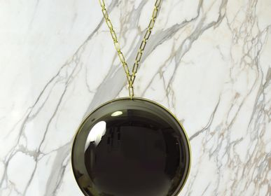 Miroirs - Miroir convexe noir Eclipse - MARTIN HUXFORD STUDIO