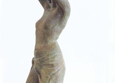 "Sculpture - ""Eglantine coiffure"" - POTHIN GALLARD CRÉATION BRONZE"