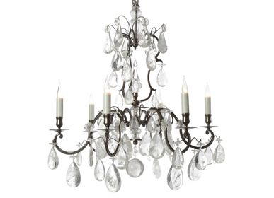 Objets de décoration - Lustre 6 lumières 14710 - BAGUES-BRONZES DE FRANCE