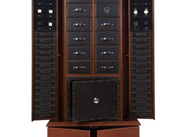 Pièces uniques - CABINET WITH 12 WATCH WINDERS AND SMALL SAFE AND JEWELLER STORING DRAWERS - UNDERWOOD ITALIA SRL