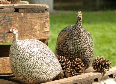 Ceramic - Decorative objects The guinea fowl - LES CERAMIQUES DE LUSSAN
