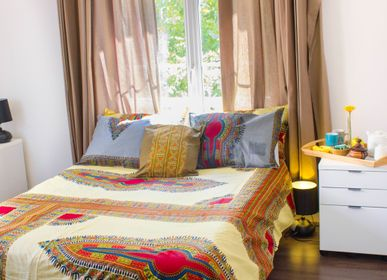 Bed linens - QUILT AND PILLOW COVER ADDIS ABEBA - TISS'AME / WAXINDECO