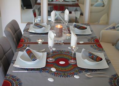 Table linen - ADDIS ABEBA TABLE SET - TISS'AME / WAXINDECO