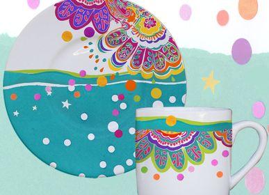 Tea / coffee accessories - PAIRE TASSE INDY - CLAUDIE FRANEL DESIGN