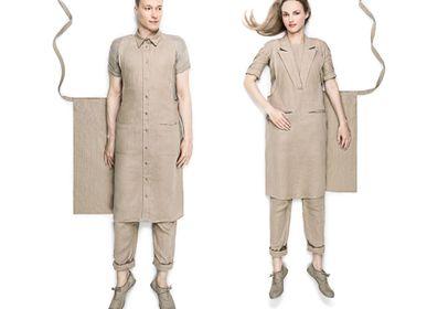 Kitchen linens - Unisex formal and shirt collar aprons - FORMUNIFORM