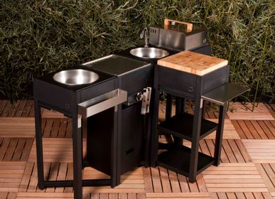 Lawn kitchens - CUISINE EXTERIEUR ONEQ - BARBECUE GARDEN SHED (BGS.CD)