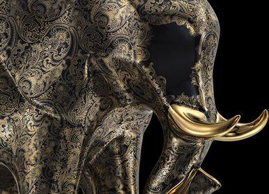 Pièces uniques - Fine Paisley Black Elephant  - STEFANO RICCI