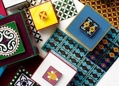 Faience tiles - Handmade Cloisonné Tile - LALA CURIO LIMITED