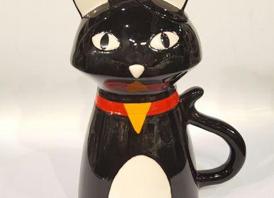 Tea and coffee accessories - teapot cat - TEAPOTS, MUGS & ART