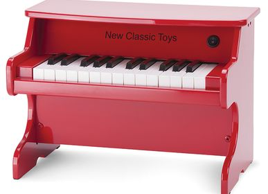 Toys - New Classic Toys - E-Piano red - 25 keys - NEW CLASSIC TOYS