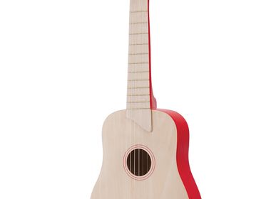 Toys - New Classic Toys - Guitar - naturel/red - NEW CLASSIC TOYS