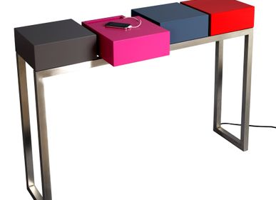 Console table - Connected console Plug&Pied - LES PIEDS SUR LA TABLE