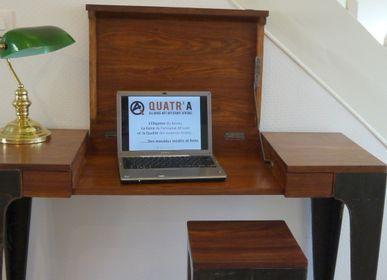 Bureaux - CONSOLE BUREAU GAZELLE 2 TIROIRS - QUATR' A