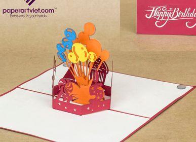 Gift - Birhday day pop-up card  - PAPER ART VIET