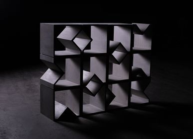 Partitions - ANGULUS MUTATIO Concrete stool / shelving system / table / modular room divider - CO33 EXKLUSIVE BETONMÖBEL