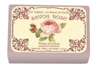 Savons - SAVON ILLUSTRE 100G ROSE - LE BLANC