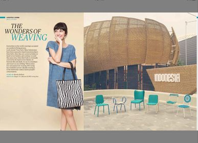 Lounge chairs - Weatherproof Handwoven Solution For Buildings & Commercial Projects - WONDERS OF WEAVING - REMARKABLE INDONESIA