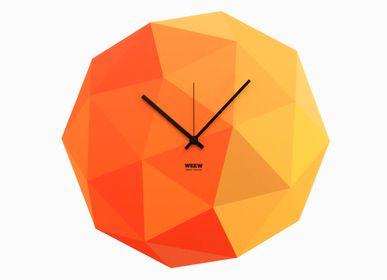 Clocks - Yellow Timeshape Wall Clock - WEEW SMART DESIGN
