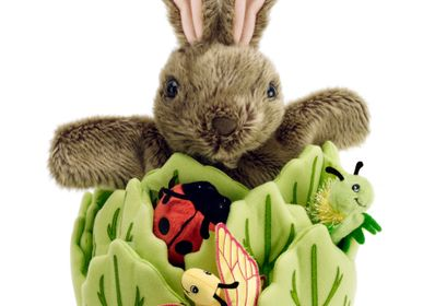 Peluches - Rabbit in a Lettuce puppet - THE PUPPET COMPANY