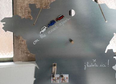 Wall decoration - Map of France, galvanised metal - UN ESPRIT EN PLUS