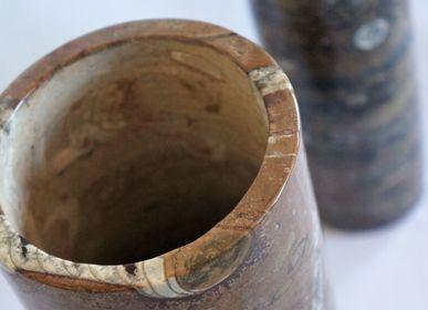 """Vases - Vase Collection """"Instant Dévonien"""" - PALEOLAND'ART - L'ART DU TEMPS"""