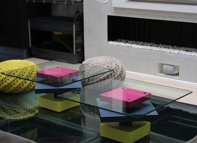 Coffee tables - Low glass tables Pied-G - LES PIEDS SUR LA TABLE