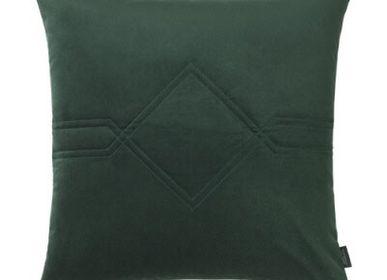 Fabric cushions - Diamond Velvet/Kvadrat Remix Jade Green Cushion - LOUISE ROE COPENHAGEN
