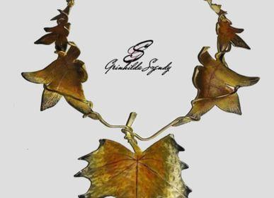 "Bijoux - Collier ""Feuilles d'Automne"" - SZENDY GRINHILDA"