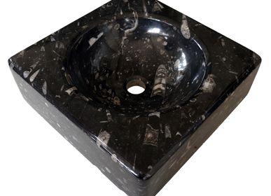 "Sinks -  Marble sink ""Silurien Night"" - PALEOLAND'ART - L'ART DU TEMPS"