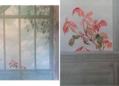 Wall decoration - Trompe-l'oeil Veranda - ATELIER  ATHENAIS DECORS PEINTS