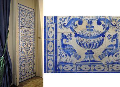 Wall decoration - Imitation of ceramics - ATELIER  ATHENAIS DECORS PEINTS