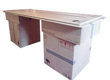 Tables basses - Mobilier sculpté imitant l'apparence du carton - ATELIER DEMÉ EBENISTE SCULPTEUR