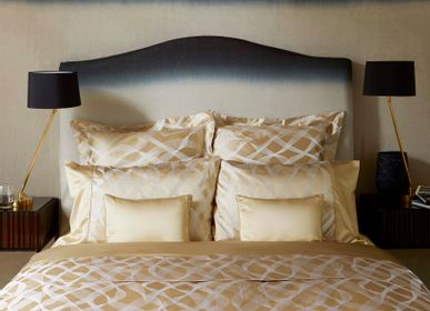 Bed linens - Rubans Gold silk cotton bed linen - GINGERLILY LTD