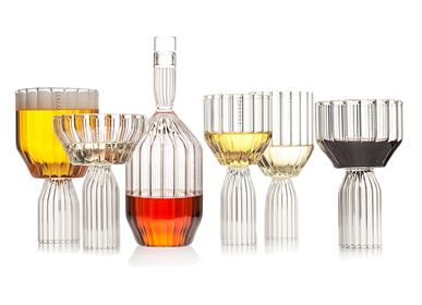Stemware - Margot Maximalist Glassware Collection by fferrone - FFERRONE