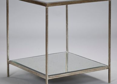 Tables - Victor Side Table in Aged Silver - ROBERT LANGFORD