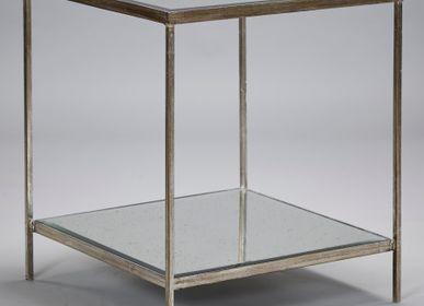 Tables - Table d'appoint Victor en argent vieilli - ROBERT LANGFORD