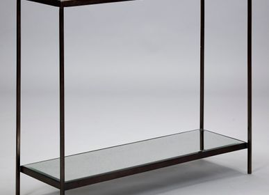Consoles - Table console Victor en bronze - ROBERT LANGFORD