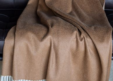 Throw blankets - Double Face Vicuna/Cashmere Throw - ARTIGIANI DEL CASHMERE