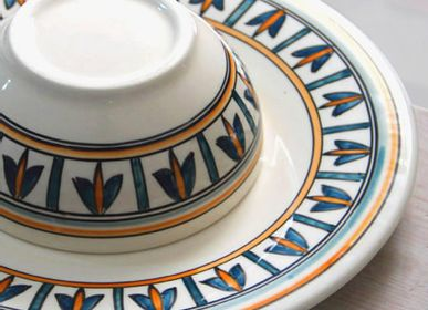 Everyday plates - COLLECTION Chemla - (Tunisia) Nabeul tableware cluster - CREATIVE MEDITERRANEAN