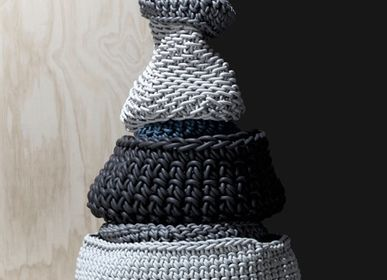 Design objects - Baskets in neoprene yarn - NEO' DI ROSANNA CONTADINI