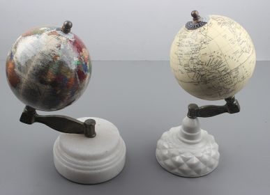 Objets de décoration - GLOBES with MARBLE STAND - LUXURIOUS ARTS