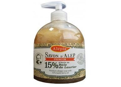 Soaps - PREMIUM LIQUID ALEPPO SOAP 15% - ALEPIA