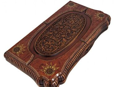 Gift - ELEGANT OTTOMAN BACKGAMMON  - HELENA WOOD ART