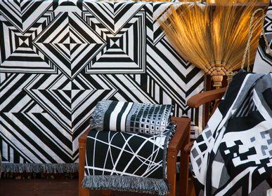 Throw blankets - Mirror Throw / Blanket  - Begonville Black & White Series - BEGONVILLE