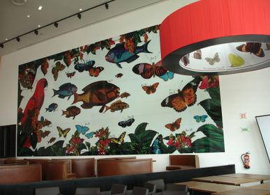 Wall panels - Laminated Glass with digital printing of high resolution  - WIDINGLASS BY BISELARTE