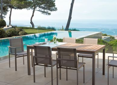 Dining Tables - Dining table KWADRA 180 cm x 90 cm Synteak® top - SIFAS